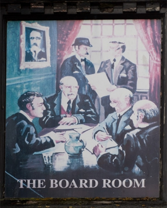 The Boardroom sign