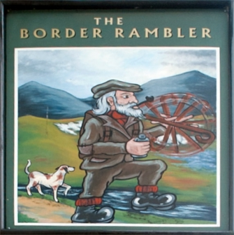 The Border Rambler sign